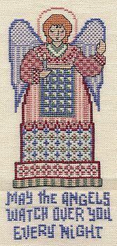Angels Watching Over You free cross stitch chart