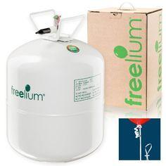 freelium Helium / Ballongas To Go Flasche mit satten 0,41 m³ / 420 Liter + 50x Ballonband