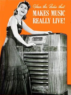 It's the radio that brings music to life! #vintage #1940s #radios #ads