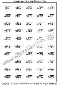 Division Worksheets – One Worksheet / FREE Printable Worksheets – Worksheetfun Math Division Worksheets, Teaching Division, 4th Grade Math Worksheets, Free Printable Math Worksheets, Fractions Worksheets, Teaching Math, Free Printables, Math Practices, Learning Time
