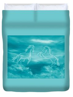 Celestial Horses Duvet Cover for Sale by Faye Anastasopoulou - Elwira Blount Pattern Pictures, My Themes, Equine Art, Bed Throws, Queen Duvet, Basic Colors, Artist At Work, Colorful Backgrounds, Fine Art America