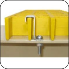 The L-Type Clip is used to secure fibreglass grating to an angle iron support. Fasteners, Iron, Type, Steel