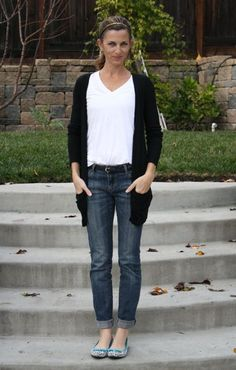 what i wore wednesday - jeans & a white tee, elevated with cute flats