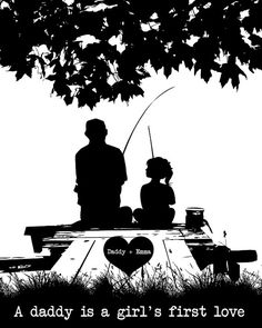 Father Daughter Fishing on the Dock A Daddy is by BelugaHomeStudio