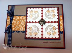 Thanksgiving Card...Stampin' Up...Day of Gratitude...