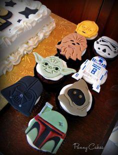 Star Wars Fondant CUPCAKE Topper Star Wars Lego Party
