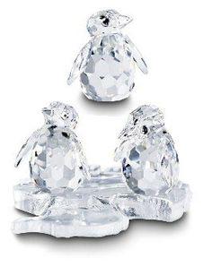 Swarovski Penguins - Aquatic Worlds.  Swarovski Crystal Figurine.