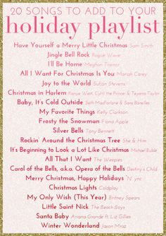 """theglitterguide: """"Fill your home with our favorite holiday songs with this Holiday Playlist! Noel Christmas, Merry Little Christmas, Christmas Music, All Things Christmas, Winter Christmas, Christmas Treats, Christmas Decor, Christmas Playlist, Xmas Songs"""
