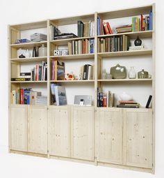 Lundia original boekenkast met paneeldeuren. Lundia Oldenzaal Workspace Inspiration, Lund, Shelving, Bookcase, Home And Garden, Storage, Kitchen, Room, Delft
