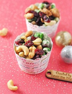 Homemade Christmas Gift Idea: Sweet & Spicy Wasabi Trail Mix - Savor The Thyme - Food, Family, and Lifestyle Trail Mix Recipes, Nut Recipes, Fall Recipes, Vegetarian Recipes, Recipies, Healthy Recipes, Vegan Snacks, Healthy Snacks, Healthy Eats