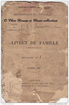 1888 - SAINT ST BONNET DE MURE - LIVRET DE FAMILLE BERNILLON - CERTIFICAT DE…