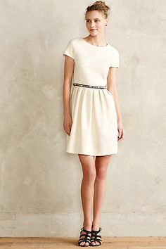 simple white fit & flare dress #anthrofave