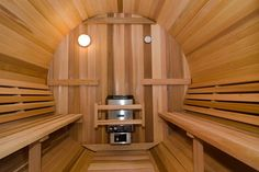 Barrel Sauna inside.  Use it almost every night. So relaxing.