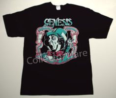 GENESIS Charisma promo logo CUSTOM ART UNIQUE T-SHIRT  Each T-shirt is individually hand-painted, a true and unique work of art indeed!  To order this, or design your own custom T-shirt, please contact us at info@collectorware.com, or visit  http://www.collectorware.com/tees-genesis_andrelated.htm