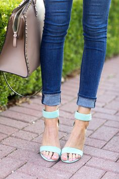 Mint shoes #strappy