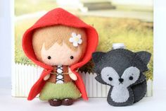 Patterns Felt Little Red Riding Hood and Wolf Cub by typingwithtea, $7.00