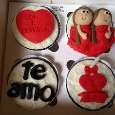 Cupcakes Aniversário de Namoro