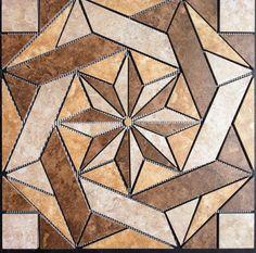 "22 1/4"" Tile Medallion - Daltile's Heathland series, floor or wall | eBay"
