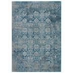 Machine Made Silver Lining 7 ft. 6 in. x 9 ft. 6 in. Vintage Look Area Rug, Silver Lining/Cloudburst