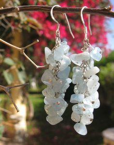Aquamarine friendship earrings