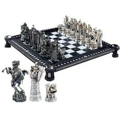 Harry Potter Final Challenge Chess Set by Noble Collection - this would be perfect if i played chess