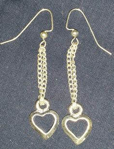Pretty thin chains ending in a heart by PleinDesign on Etsy
