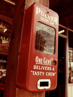 Old Chewing Gum Vending Machine by mcurtis7, via Flickr  Why the quotation marks?