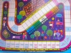 Vintage 1960s Alain Grée Game Board - Les 24 Heures Du Mans