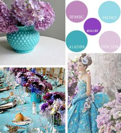 turquoise lilac...no turquoise wedding dress though lol