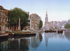 #Amsterdam around 1900: Munt tower