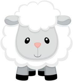 Afbeeldingsresultaat voor baby lamb white and grey clip art Farm Animal Party, Farm Animal Birthday, Farm Birthday, Farm Party, Baby Farm Animals, Baby Sheep, Cute Sheep, Eid Stickers, Sheep Cartoon