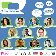 Trocando Ideias: Empreendedorismo no dia 04 de outubro de 2014 na ESPM-Sul. Inscrições em www.eventioz.com.br/trocandoideias #empreendedorismo #networking #cases #inspiração #startups
