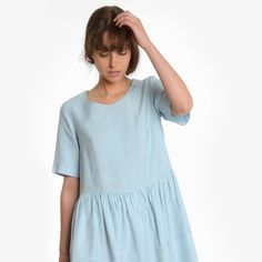 """Our Lesiel Smock has arrived! Perfect cotton chambray in our best selling smock silhouette! Pop Instore now and try it on we  it! #obusclothing…"""