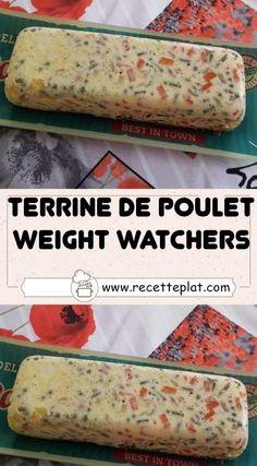 Poulet Weight Watchers, Weight Watchers Chicken, Chicken Terrine, Weigth Watchers, Salty Foods, Quiche, Entrees, Buffet, Food And Drink