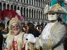 Masked couple, Venice