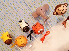 Jungle Safari Zoo Animal Cake Pops Copy by JamiesCakePops on Etsy, $24.00