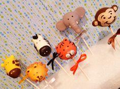 Jungle Safari Zoo Animal Cake Pops Copy by JamiesCakePops on Etsy, $24.00