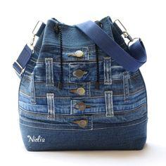 Denim Bag, Denim Jeans, Jean Backpack, Denim Handbags, Recycled Denim, Denim Fashion, Upcycle, Sewing Patterns, Backpacks