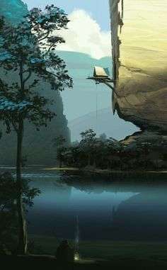 Film Environment / Visual development scene by Lemonade Illustration Agency on… Illustration Agency, Illustrations, Digital Illustration, Environment Concept, Environment Design, Fantasy Places, Fantasy World, Fantasy Concept Art, Fantasy Art