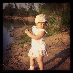 Moja córcia łowi rybki :) #fishing #girl #cócia