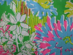 """Vintage Lilly Pulitzer Floral """"Mum Patch"""" by Zuzek Key West Hand Print Fabrics, Inc. Photographed by @Spotted Palm"""
