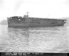 USS Copahee at the Puget Sound Navy Yard, Bremerton, Washington, United States, 17 Aug 1942, photo 2 of 2