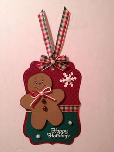 Happy Holidays - Gingerbread Tag <3 http://www.julieskraftykorner.blogspot.com/2012/11/gingerbread-tag.html