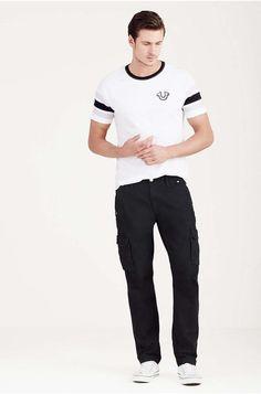 True Religion Big T Cargo Pants in Black, Size W32/L34 NWT $279 #TrueReligion #Cargo