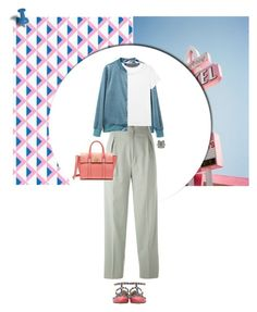 """""""Untitled #988"""" by tamara-40 ❤ liked on Polyvore featuring Valentino, Jean-Louis Scherrer, Monki, DANNIJO, Bijoux de Famille, Mulberry, shoes, fashionset and 2017"""