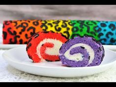 I made a Rainbow Leopard Cake Roll. In this video I show you how to make this colorful and delicious cake roll, filled with Cream cheese marshmallow filling....