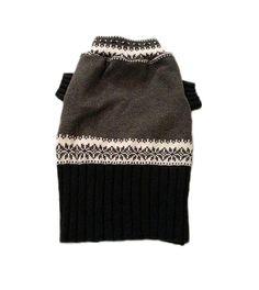 Medium Gray & Black Designer Dog Sweater