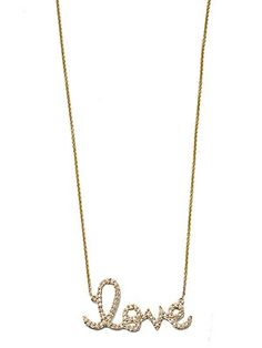 Sydney Evan Love necklace.. Simple, pretty and just $1650.00.  :)