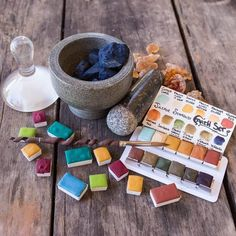 Earth Special Selection Earth Set of Artisan Handmade Watercolor paint Set made from Genuine World Earth Pigments - Homemade Paint, Earth Pigments, Watercolor Paint Set, Blue And Green, Green Earth, Nature Paintings, Handmade Art, The Selection, Palette