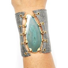 Heather Gardner - Malibu Agate Leather Cuff